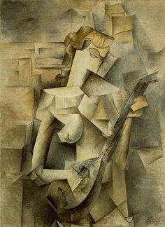 Pablo Picasso (Spanish, 1881-1973): Girl with a Mandolin (Fanny Tellier), 1910