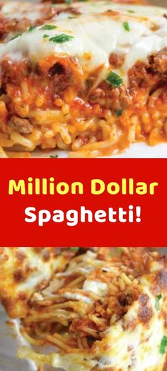 Million Dollar Spaghetti! Ingredients 1 ounce) package spaghetti 1 pound lean ground beef or sausage combination 1 tablespoon of black pepper salt to taste 1 ounce) jar spaghetti sauce (I used prego) stick butter, cut into small chunks 1 cup Sauce Recipes, Pasta Recipes, Dinner Recipes, Recipes With Prego Sauce, Dinner Ideas, Dessert Recipes, Slow Cooker Recipes, Beef Recipes, Cooking Recipes