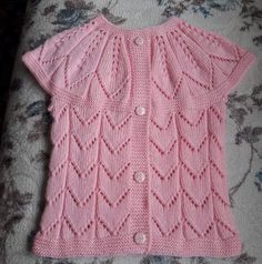 Baby Vest with Leaf Pattern Knitted as a Single Piece and Starting from Collar . Making a Baby Vest with Leaf Pattern Knitted as a Single Piece and Starting from the Collar. Baby Knitting Patterns, Knitting For Kids, Baby Patterns, Crochet Baby Cardigan, Knit Baby Dress, Knit Crochet, Baby Boy Vest, Vest Pattern, Free Pattern