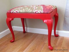 How to re-upholster a stool