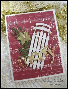 stamping up north with laurie: Memory Box large winter sled