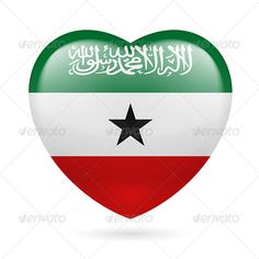 Heart icon of Somaliland  #graphicriver