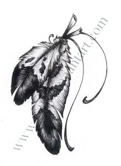 Eagle feathers, to symbolize strength and fierceness.this and she flies with her own wings with it