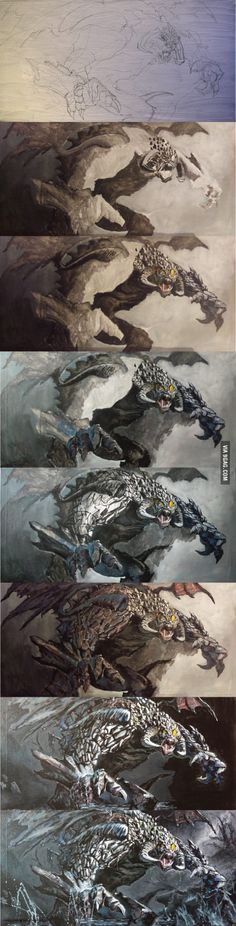 Any Dota 2 Fans on 9 Gag? Check out my painting of Roshan