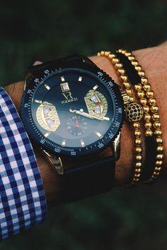 Vivid Essentials VODRICH Monaco Gold Watch - $75.00 $69.00 VODRICH Rose Gold Macrame Stack - $45.00 Buy yours here. Source: vodrich.com