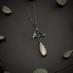 Purple Grey, Light Purple, Mother Of Dragons, Snake Skin, Pendant Necklace, Jewellery, Silver, Purple Gray, Jewels