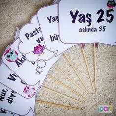 Doğum Günü kutlaması için baykuş temalı işaretçiler Kutu Kutu Parti