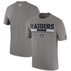 Oakland Raiders Nike Sideline Legend Staff Performance T-Shirt - Charcoal 76fd572b6