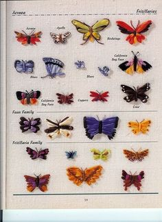 Butterflies Ribbon Embroidery