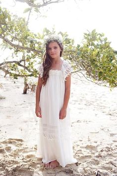 Haven Maxi Dress - Off white/ Ivory - Tea Princess