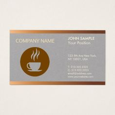 Cafeteria Modern Professional Elegant Coffee Shop Business Card - professional gifts custom personal diy