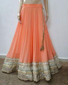 peach and silver lehenga Indian Bridal Fashion, Indian Wedding Outfits, Pakistani Outfits, Asian Fashion, Indian Outfits, Women's Fashion, Indian Weddings, Dress Fashion, Fashion Ideas
