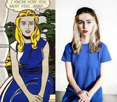 Moda e pittura. Essere una donna di Lichtenstein o Schiele, per un giorno. Ritratti d'autore tramutati in consigli per il look