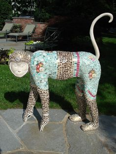 Mosaic Monkey by 'AnneReaDesigns' on Etsy(when pinned was 'in stock' $3500)<3
