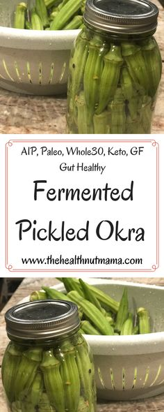 Fermented Pickled Okra is another great way to get in those natural gut healthy probiotics. Much better than the store-bought kind but way healthier without nasty ingredients. Easy, Delicious Holistic Nutrition, Proper Nutrition, Health And Nutrition, Health Tips, Health Articles, Health Benefits Of Cherries, Health Benefits Of Almonds, Natural Add Remedies, Natural Remedies For Migraines