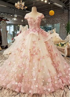 Elegant Pink Lace Princess Wedding Dresses 2019 African Black Girls Flowers Lace up Sheer Neck Puffy Ball Gowns Bridal Gowns Elegant Pink Lace Princess Wedding Dresses 2019 African Black Girls Fl – chicmaxonline Sweet 16 Dresses, Beautiful Prom Dresses, Pretty Dresses, Elegant Dresses, Elegant Ball Gowns, Amazing Dresses, Princess Wedding Dresses, Bridal Dresses, Wedding Gowns