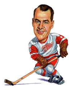 Gordie Howe Painting by Art