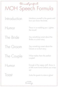 34 Most Beautiful Wedding Speech Quotes, Wedding ceremonies have as much activity going on that many situations the significance of wedding messages isn't realized. You are ideal for one anot. Wedding Puns, Wedding Speech Quotes, Best Man Wedding Speeches, Wedding Messages, Wedding Toasts, Wedding Ideas, Best Friend Wedding Speech, Wedding Stuff, Wedding Speaches