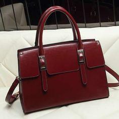 Moderne Handtasche, PU Leder, mit Messing, goldfarben plattiert, mit hängenden Gurt befestigt, keine, 300x240x150mm, 3Stücke/Gruppe, verkauft von Gruppe - perlinshop.com