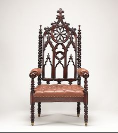 Armchair, Maker: John and Joseph W. Meeks (active ca. 1836–59) Date: ca. 1850 Geography: Mid-Atlantic, New York, New York, United States Culture: American Medium: Mahogany