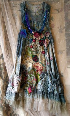 Fairy woods shabby romantic tunic warable art от FleursBoheme