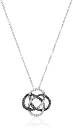 10K White Gold Black and White Diamond Pendant Necklace (1/3 cttw), 18' -- Be sure to check out this awesome product. (This is an affiliate link and I receive a commission for the sales)
