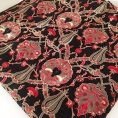 Tulpen Chenille traditionelle ethnische von sunflowerfabric auf Etsy