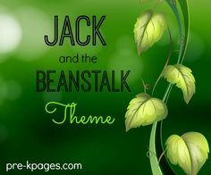Jack and the Beanstalk activities for preschool and kindergarten. Literacy, math, and more!