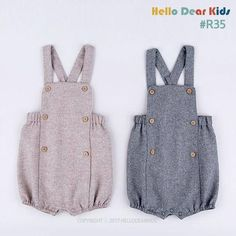 R35/ kids sewing pattern pdf, Retro Baby Toddler Romper, Baby Onesie , kids romper, baby suit, Sizes-New born to 2T You will need: 3/4~1+1 yard main fabric. 6Buttons. Serger and sewing machine Elastic band If you dont have a serger you can substitute all serged seams with your