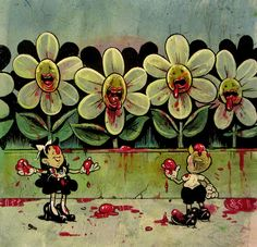 Al Columbia's Pim and Francie Continue Their Adventures in New Works Children's Comics, Goth Art, Vintage Horror, Lowbrow Art, Pop Surrealism, Dark Fantasy Art, Chalk Art, Horror Art, Whimsical Art