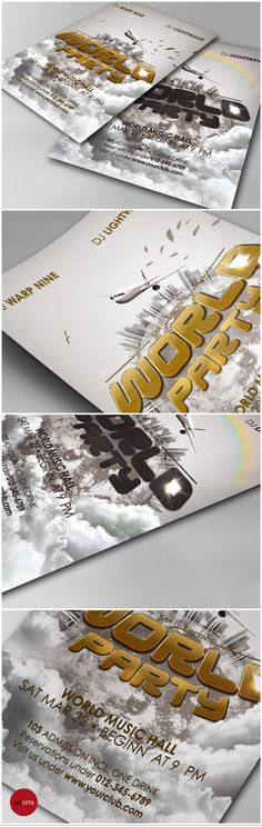 Music & Event Flyer - World Party by isoarts • premium design resources, via Behance
