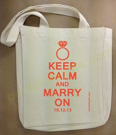 Keep Calm And Marry On - Personalized Small Gift Tote by PamelaFugateDesigns, $12.95