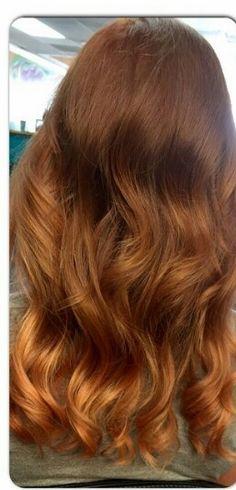 Copper/rose gold Copper Rose, Rose Gold, Copper Balayage, Gorgeous Hair, Hair Colors, Hair Goals, Hair Ideas, Long Hair Styles, Beauty