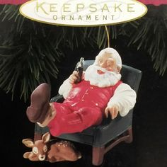 Santa Claus Coca Cola 1994 Hallmark Relaxing Moment Keepsake Ornament Coke MIB