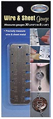 Amazon Com Bead Buddy Us Standard Metal Gauge For Measuring Wire And Sheet Metal Gauge Metal Jewelry Making