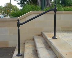 Wrought Iron Outdoor Hand Railings | Hollis Park Hand Rails - Cast Iron Work - Wrought Artworks - Iron work ...