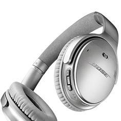 Fokusera på det som är viktigt med de trådlösa hörlurarna QuietComfort 35 från Bose. Brusreducering i världsklass och förstklassigt ljud.