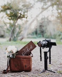 The leather Brixton messenger - the perfect companion for a wedding photographer.