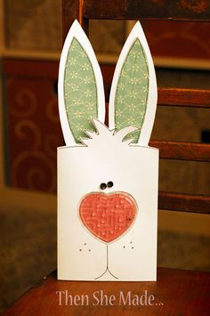 I get asked all the time where to buy those mazes. They hit Walmart and Target this time of year so look for them near the seasonal aisle. And, if you don't want them for Valentine's day, buy them anyway, because you can use them for other things too - remember my Easter Bunny card?