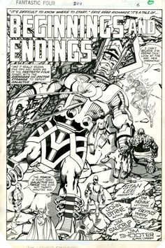 Byrne Fantastic Four 244 splash Comic Art