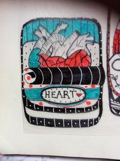 Polyshrink heart