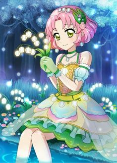 Sakura, the yousei of the original aikatsu series. Well, Aria took over her place in Aikatsu stars