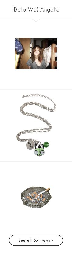 """""""(Boku Wa) Angelia"""" by amethyst-dyes ❤ liked on Polyvore featuring pictures, jewelry, necklaces, hot topic, multiple charm necklace, hot topic necklaces, hot topic jewelry, multi charm necklace, fillers and cigarettes"""