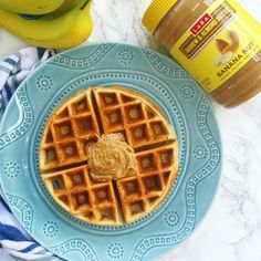 You need these Banana Nut Waffles made with Banana Nut cashew & almond #LaraNutButter in your life! They're super easy and delicious and make the perfect better for you treat! You can find these NEW nut butters exclusively at @CostCo (in the Northeast and Bay Area) #LaraBar #sponsored