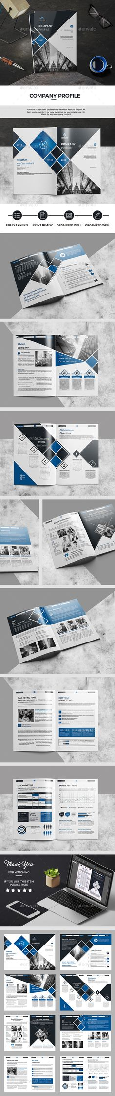 Company Profile — InDesign INDD #brief #visual • Download ➝ https://graphicriver.net/item/company-profile/19269699?ref=pxcr
