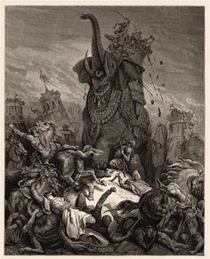 Death of Eleazer - Gustave Dore.....reminds me of lords of the rings