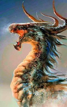 ♡ amazing dragon art
