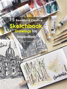15 Beautiful & Creative Sketchbook Drawings for Inspiration