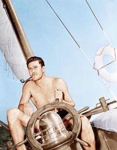 Errol Flynn Relaxing On His Yacht, Ca Photograph - Errol Flynn Relaxing On His Yacht, Ca Fine Art Print Errol Flynn, Vintage Hollywood, Classic Hollywood, In Hollywood, Hollywood Pictures, Hooray For Hollywood, Media Images, Classic Films, Great Movies