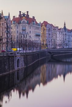 Reflection - Early morning in Prague